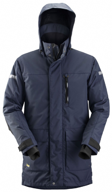 Snickers 1800 AllroundWork Waterproof 37.5® Insulated Parka (Navy/Black)